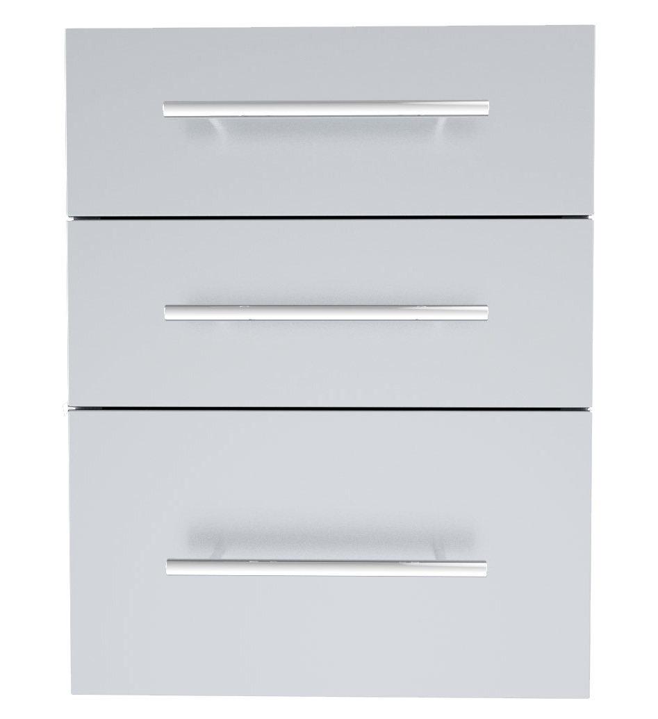 "Designer Series 23""Height Multi-Configurable Triple Drawer w/Self-Leveling Legs - Item No. DE-TD23"
