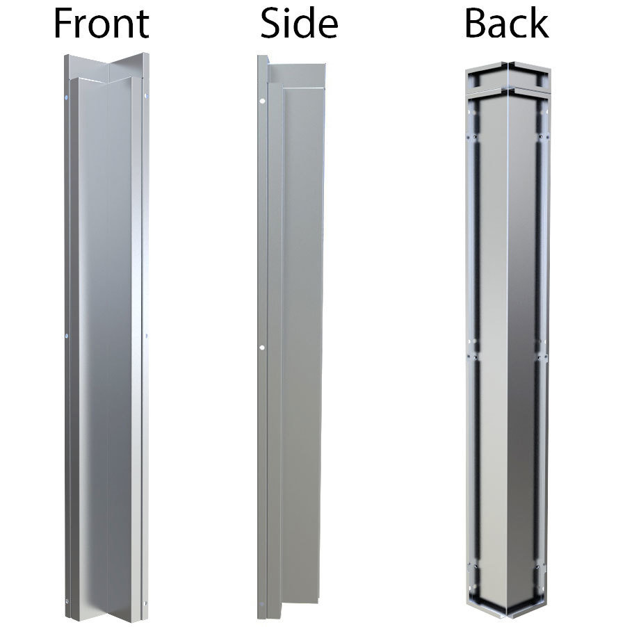 """3"""" x 3"""" 90 Degree Corner Spacer Panel for Full Height Wall Cabinet Front  - Item No. SWC3SP90"""