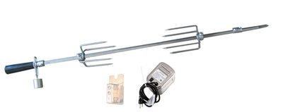 Stainless Steel Rotisserie Kit w/Mounting Bracket