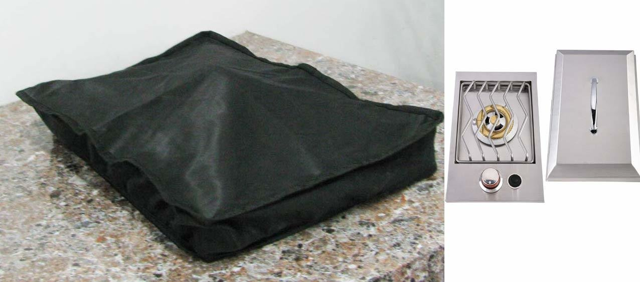 "Waterproof cover for Slide Out Drop in Single Burner- Size:12-5/8"" W x 19-5/8"" L x 3-7/8"" D"
