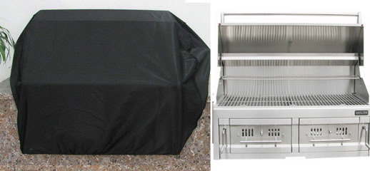 """Waterproof Grill Cover for 42"""" Drop in Charcoal Grills- Size 48.8"""" W x 31"""" H"""