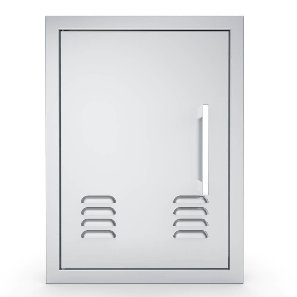 Signature Series Vertical Belved Frame Single Access Doors Vented