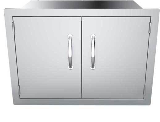 "30"" Flush Mount Double Door Dry Storage Pantry - Item No. DSH30"