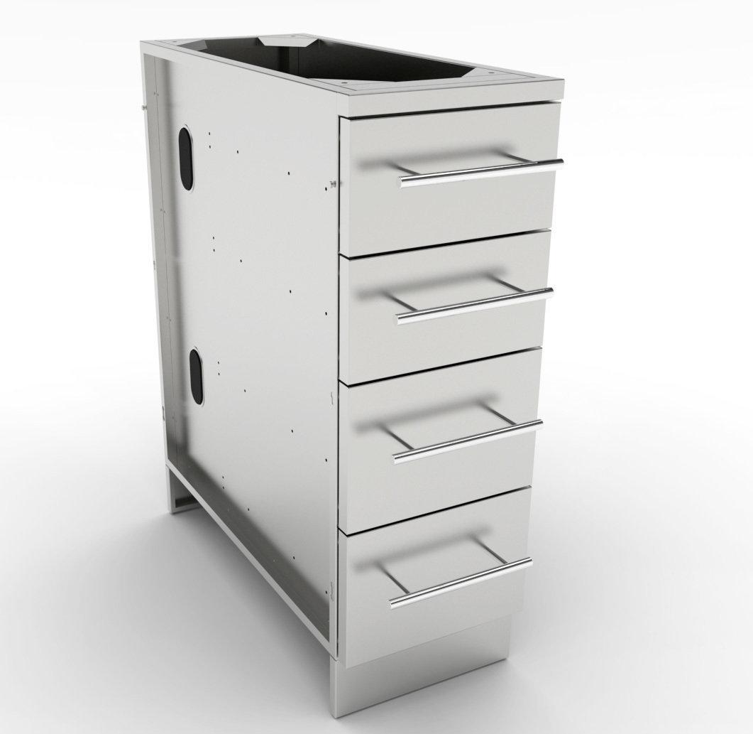 "12"" 4 Multi Drawer Base Cabinet  - Item No. SBC12SMD"