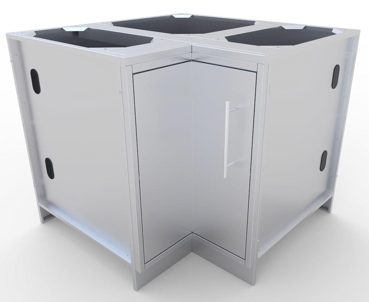 "12""x12"" Corner Cabinet with Swivel Shelves  - Item No. SBC12SLS"