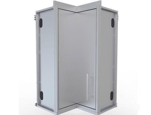 """12"""" x 12"""" Full Height 360 Swivel Door Corner Cabinet w/Three Shelves  - Item No. SWC12SLS"""