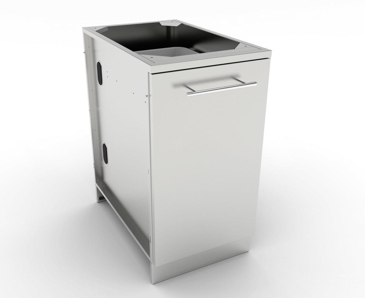 "18"" Trash Drawer Cabinet w/Two Top Loading Bins  - Item No. SBC18STRD"