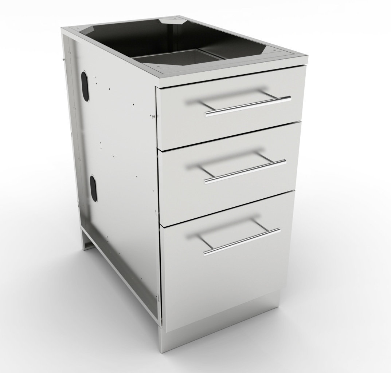 "18"" Triple Drawer Base Cabinet  - Item No. SBC18STD"