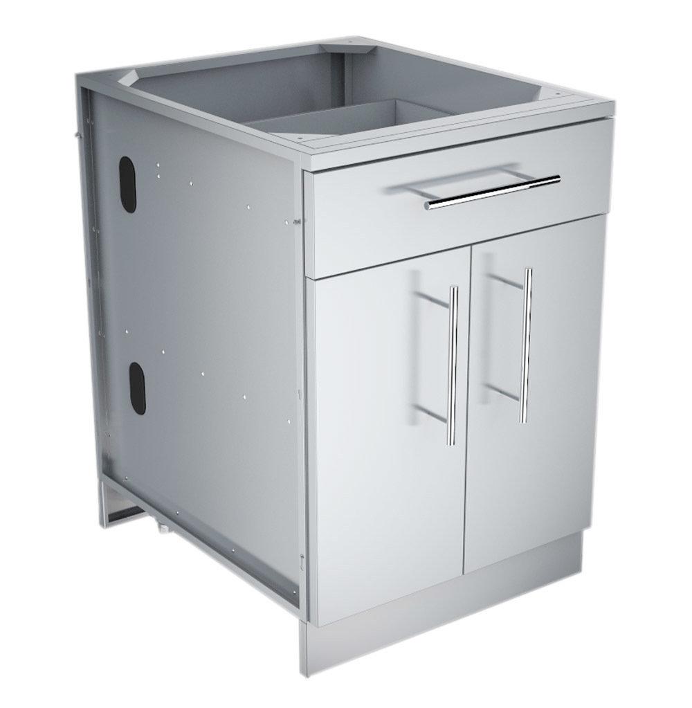 "24"" Double Door Base Cabinet w/Shelf & Reversible Top Drawer or False Panel  - Item No. SBC24CDD"