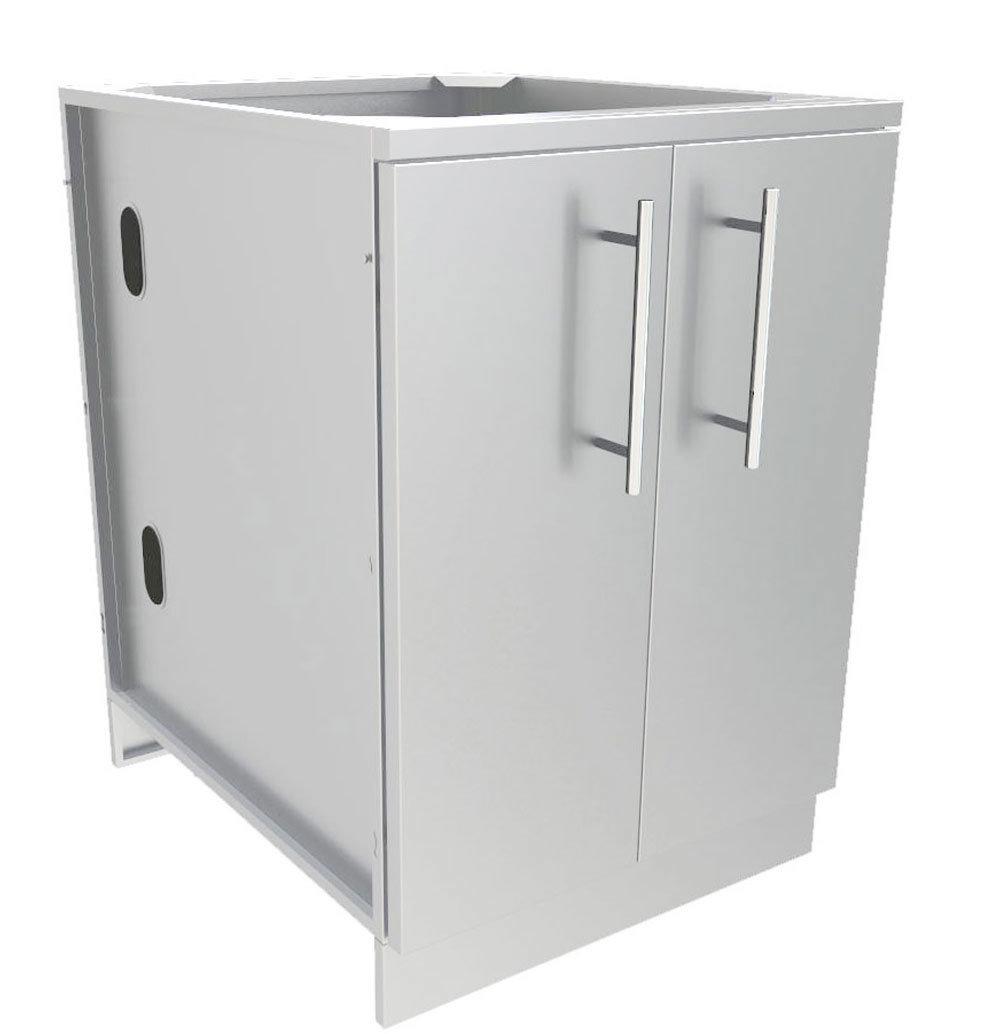 """24"""" Full Height Double Door Base Cabinet w/Two Shelves & Door Pockets  - Item No. SBC24FDD"""