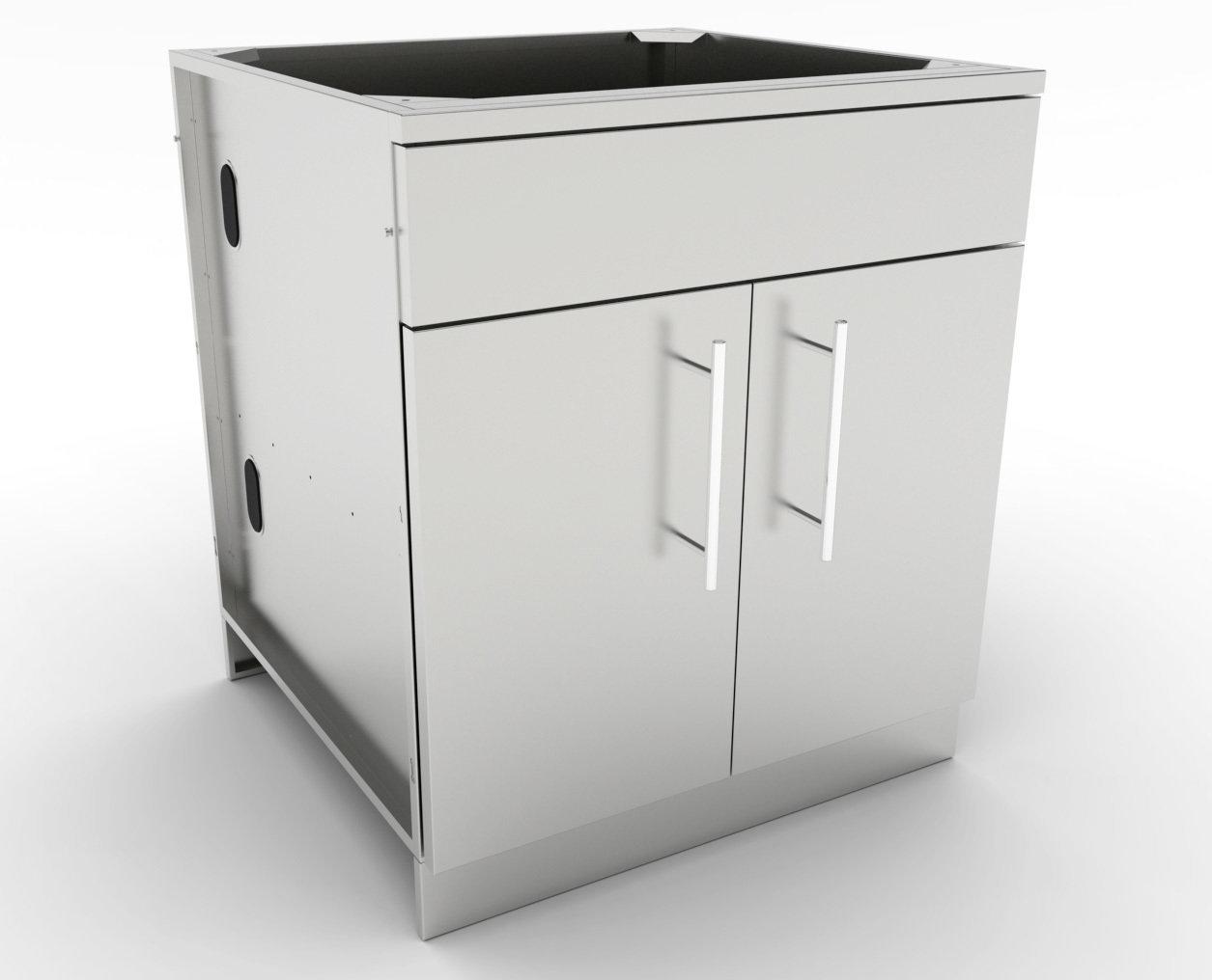"30"" Double Door Base Cabinet w/Shelf & Reversible Top Drawer or False Panel"