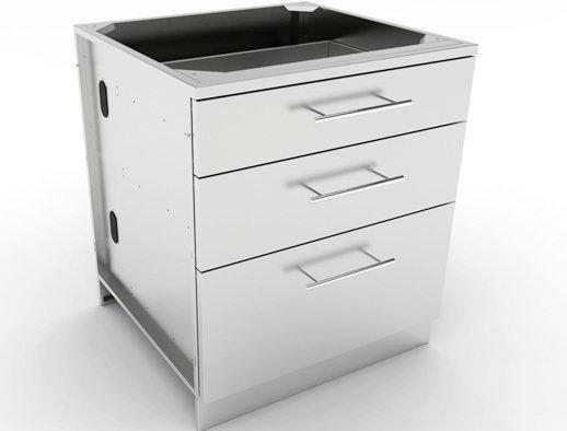 """30"""" Large Triple Drawer Base Cabinet  - Item No. SBC30STD"""