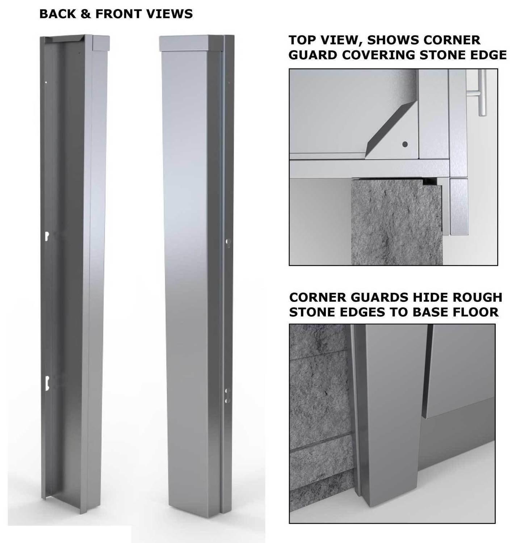 """3"""" End Corner Guard Panel for Left Side of Base Cabinets  - Item No. SCC3ENDSPL"""