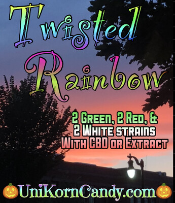 Twisted Rainbow with CBD or Extract Option