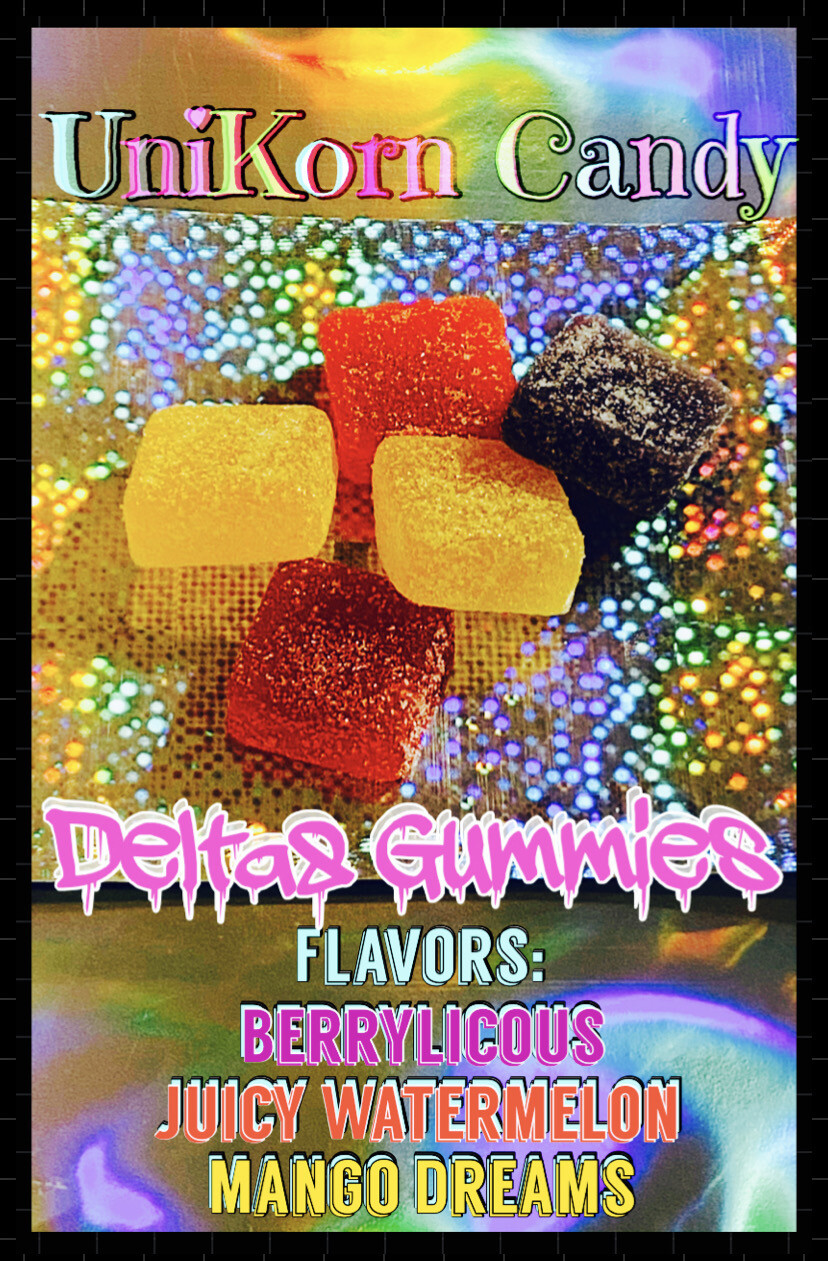 """Gummies- Delta8 (legal """"light weed"""". See Description To Make Sure It's Legal In Your State)"""