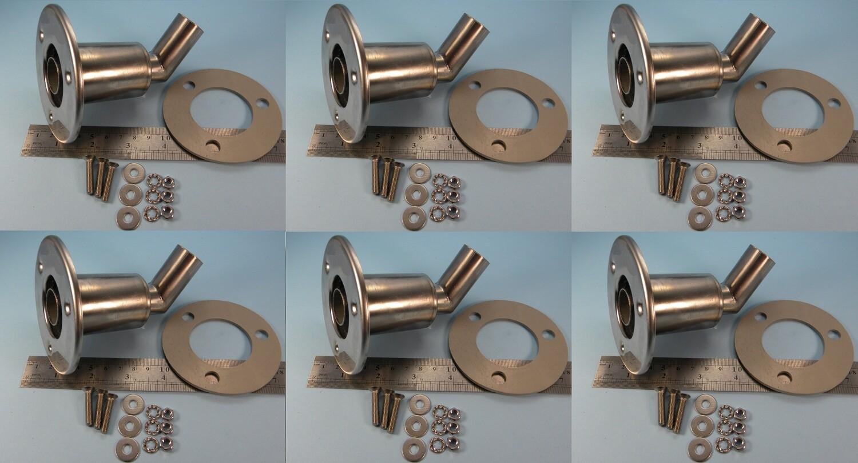 Set of 6 fittings (SALE, slight polishing defects)