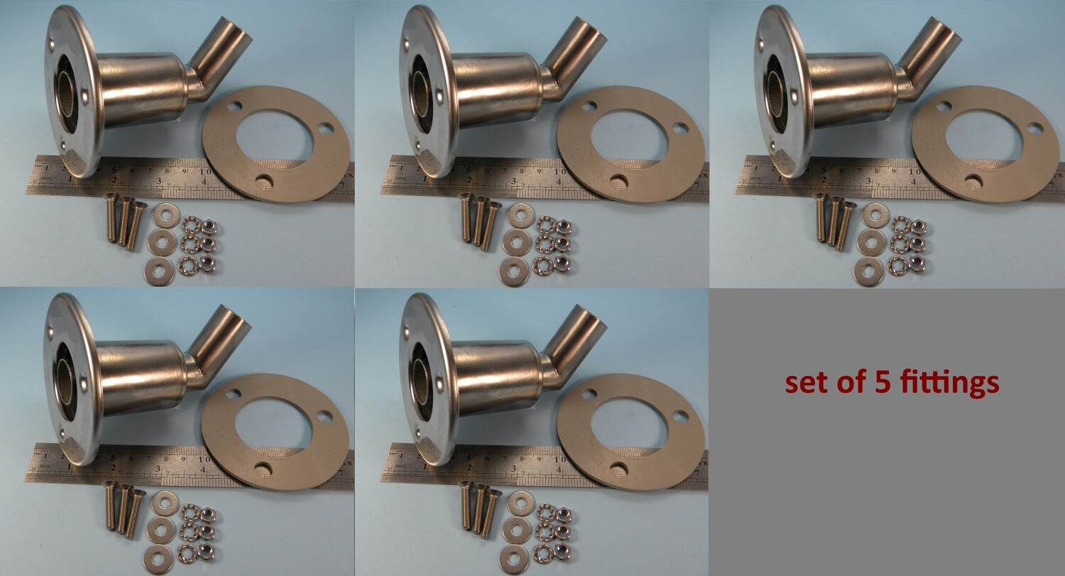Set of 5 fittings (SALE, slight polishing defects)