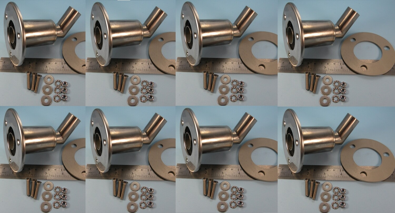 Set of 8 fittings (SALE, slight polishing defects)