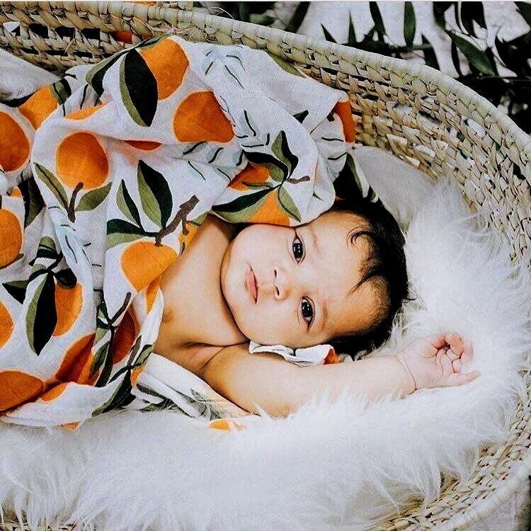 Муслиновая пеленка «Апельсины»