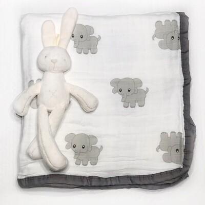 Муслиновое одеяло «Слоники»