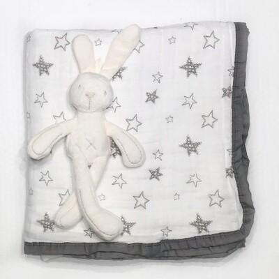 Муслиновое одеяло «Звездочки»