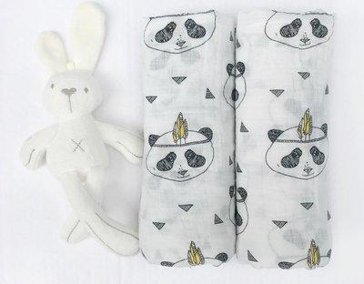 Муслиновая пеленка «Панды»