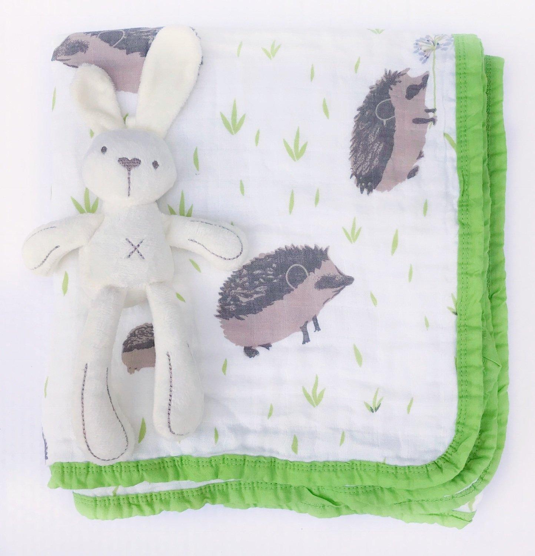 Муслиновое одеяло «Ежи»