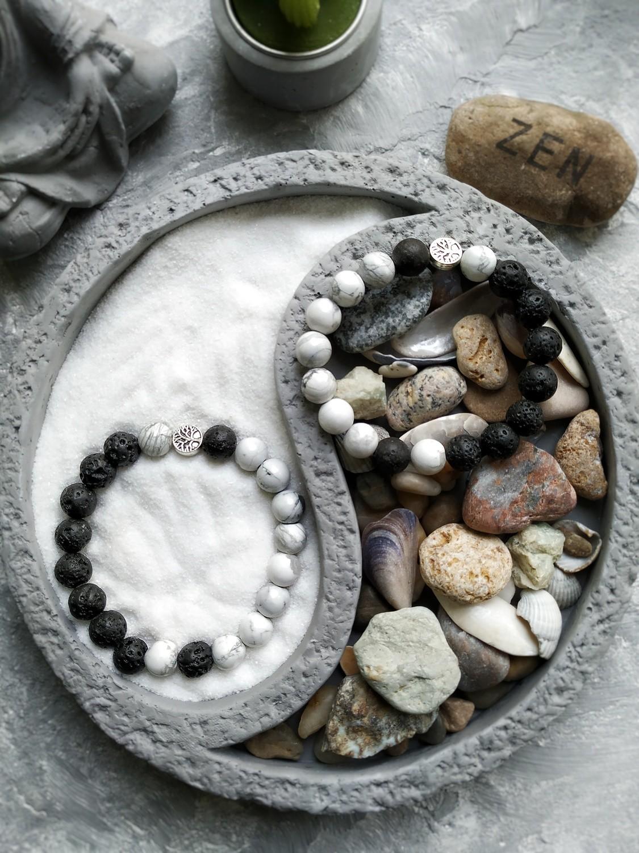 """Парні браслети для закоханих """"Yin Yang"""""""