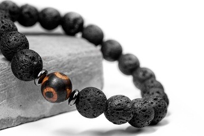Чоловічий браслет з натурального каменю
