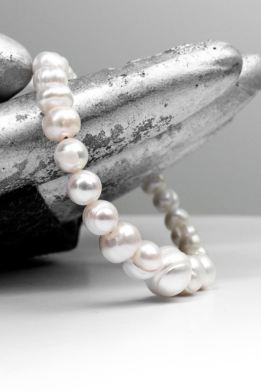 """Браслет """"Маргарита"""" річкові перли, срібло 925."""
