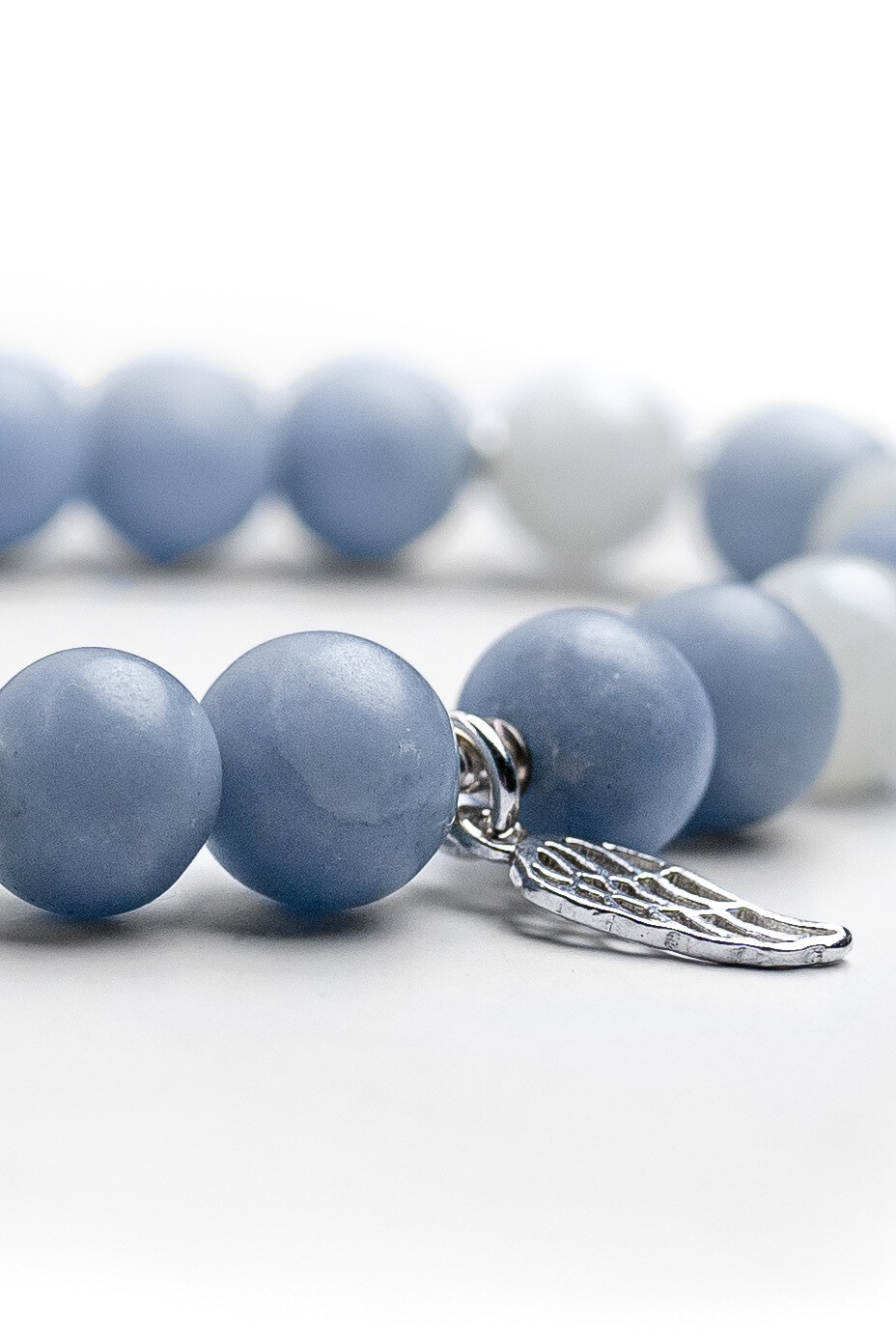 """Браслет з натурального каменю ангеліт і місячний камінь """"Angel"""""""