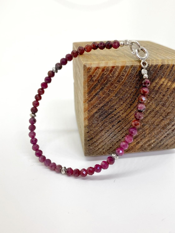 """Браслет з натурального каменю рубін """"Raspberry"""""""