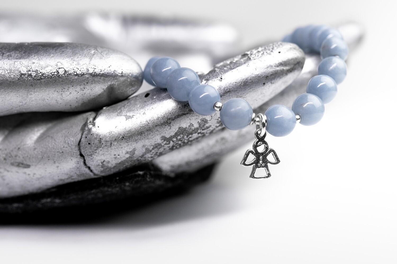 """Браслет """"Ангелик"""" ангеліт, срібло 925."""
