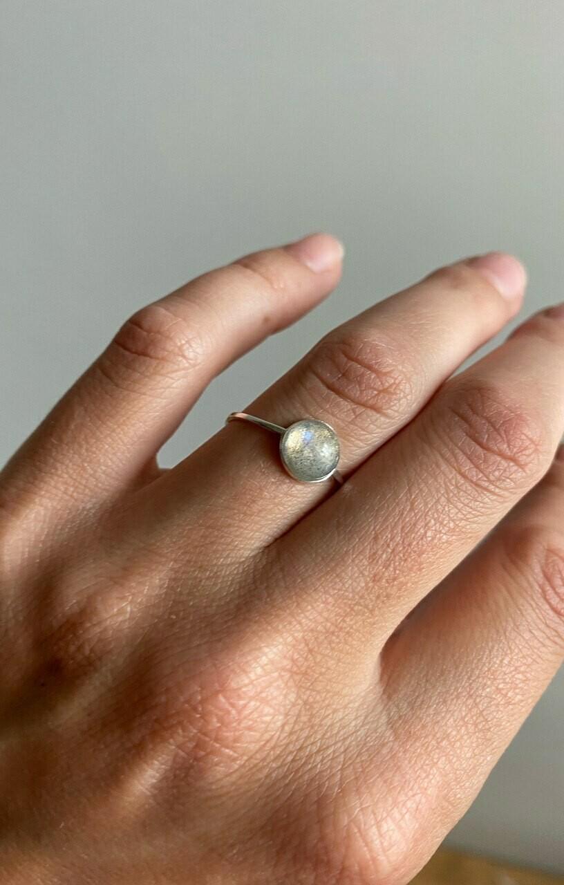 """Перстень з натуральне каменем лабрадор"""" Містичний Лабрадор"""""""