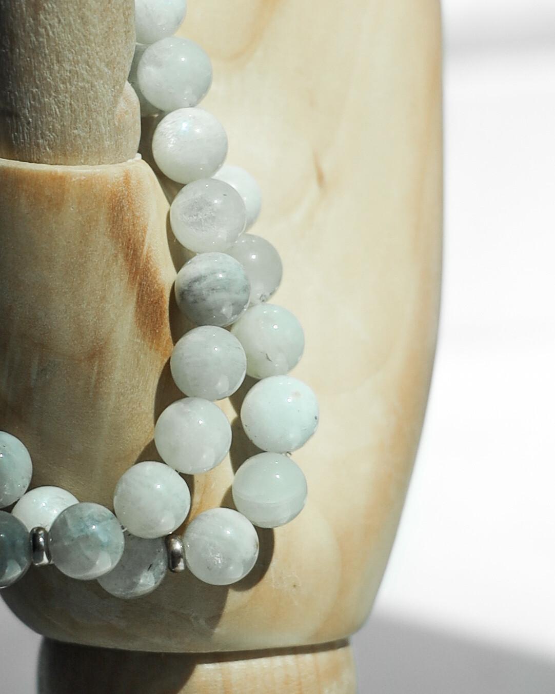 """Браслет """"Сяйво"""" місячний камінь, срібло 925."""