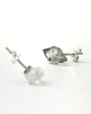 """Сережки """"Фулла"""" з Херкімер кварцом, """"діамантом Геркмаєра"""" ."""