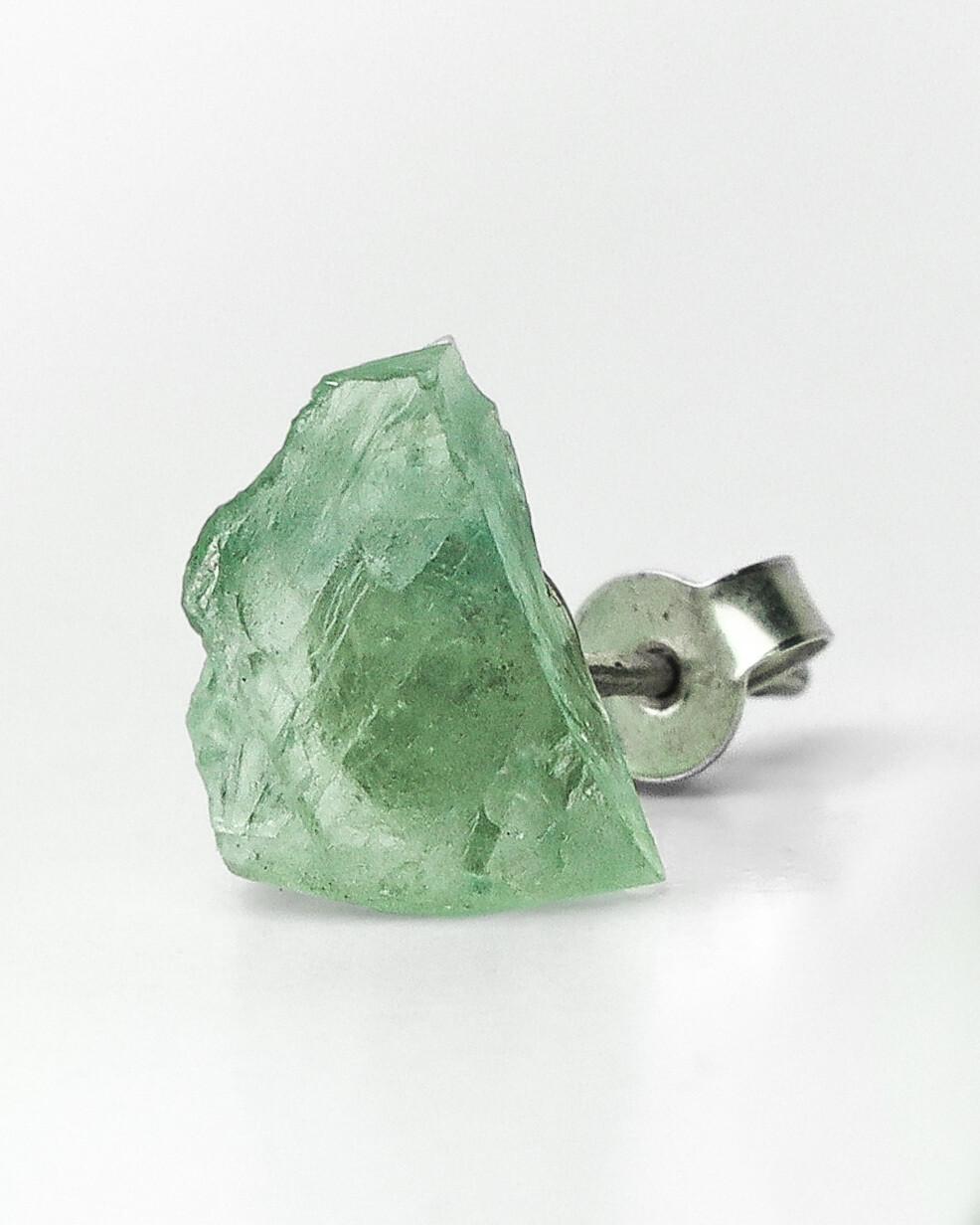 """Сережки """"Рінд"""" з зеленим берилом, срібло 925."""