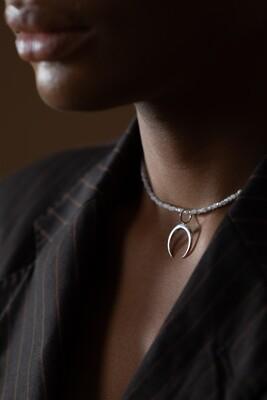 """Кольє """" Берегиня """" місячний камінь/адуляр , срібло 925."""