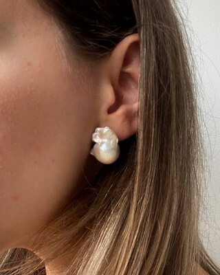 """Сережки """"Бароко"""" перли бароко, срібло 925."""
