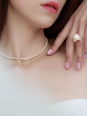 """Кольє """"Агідель"""" мікс річкових перлів, срібло 925"""