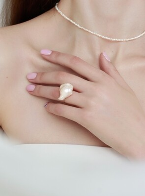 Перстень «Дана» Барокова перлина, Срібло 925