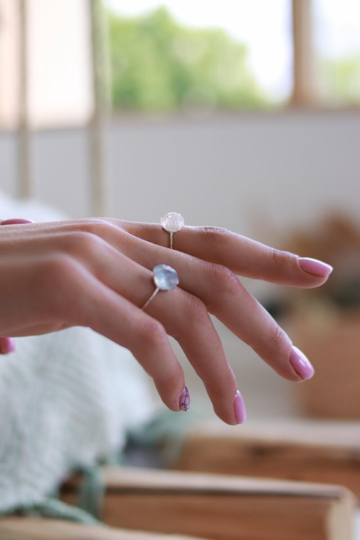 """Перстень """"Ловн"""" рожевий кварц, срібло 925"""