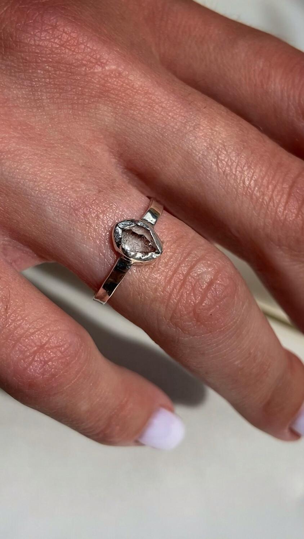 "Перстень ""Фула"" Херкімер кварц, срібло 925"