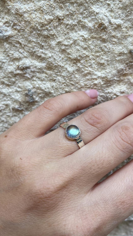 Перстень «Сяйво» Лабрадорит, Срібло 925