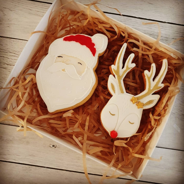 Red Nose Reindeer Christmas 2020 Cookies - 2 pack