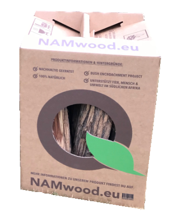 2x NAMwood Grillholz der Sorte Sekelbos, 12 kg, in der praktischen Tragebox. (Gesamt 24 Kg)