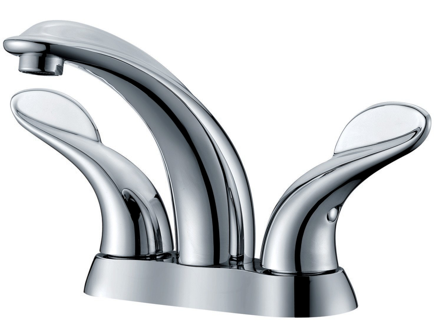 "Two-handle 4"" centerset lavatory faucet"