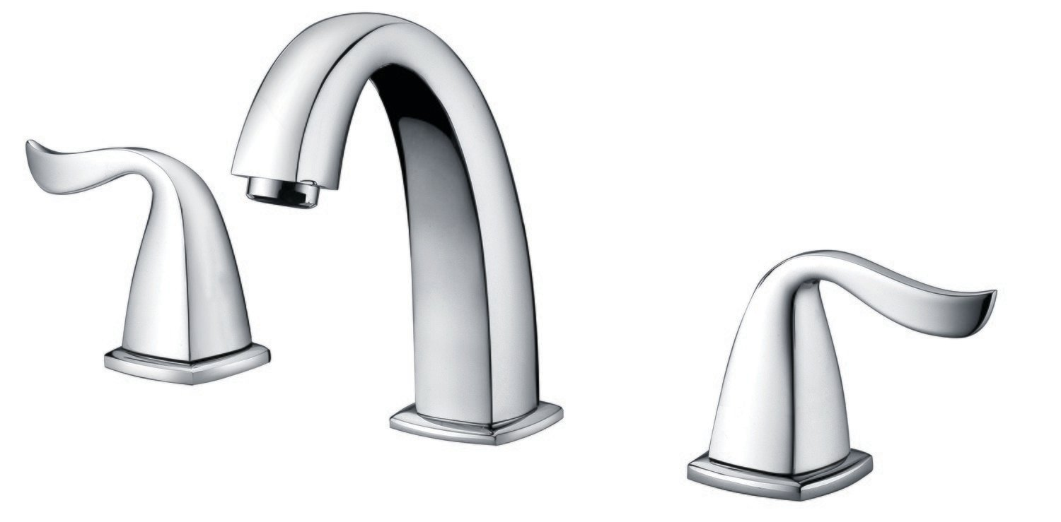 "Two-handle 8"" widespread lavatory faucet"