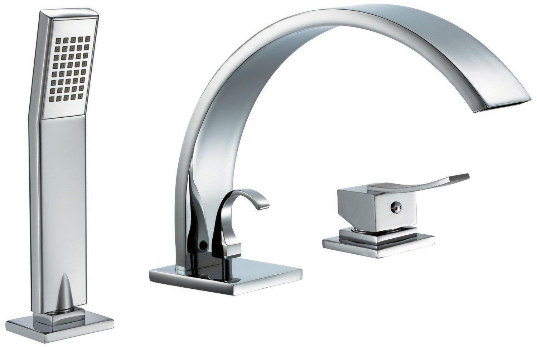 Single-lever 3-hole shower/bath mixer