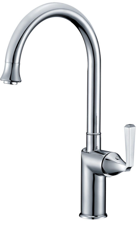 Single-handle kitchen faucet